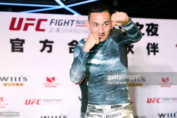 Max Holloway leads a UFC MMA Seminar on August 4 2017 in Shanghai China