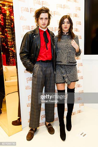 Max Hurd and Elleanor Calder attend the launch party of the Folli Follie Regent Street Concept Store on December 1 2016 in London England