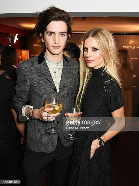 Max Hurd and Laura Bailey attend the launch of La Maison Remy Martin the cognac brand's new members club on November 2 2015 in London England