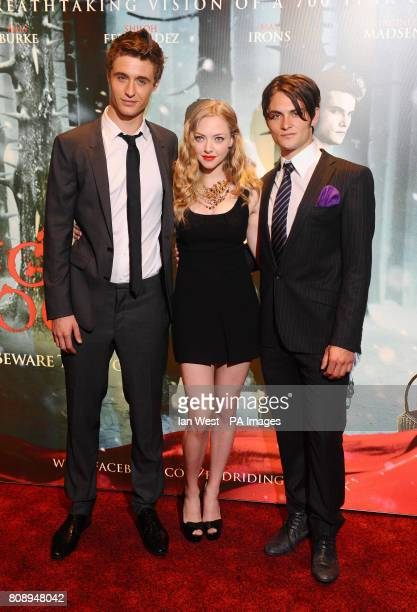 Max Irons Amanda Seyfried and Shiloh Fernandez attend the screening of Red Riding Hood at the Empire Cinema in London