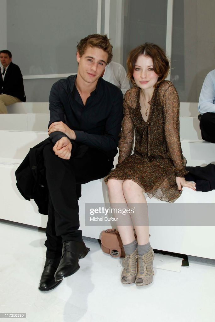 Max Irons and Emily Browning attend the Dior Homme Menswear Spring/Summer 2012 show as part of Paris Fashion Week at on June 25, 2011 in Paris, France.