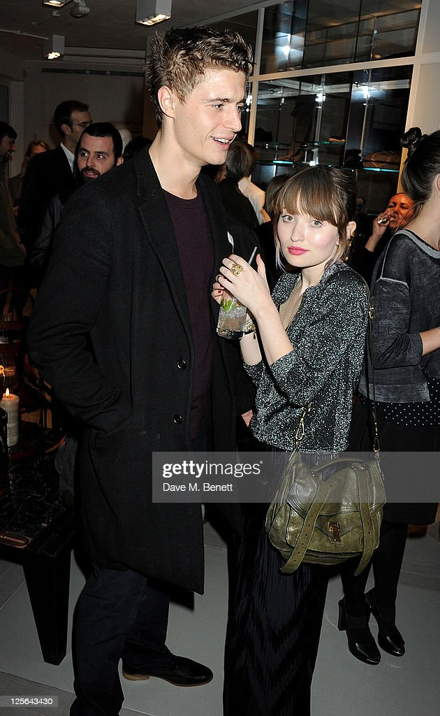 Max Irons (L) and Emily Browning attend the opening of the Nicole Farhi global flagship store on September 19, 2011 in London, England.