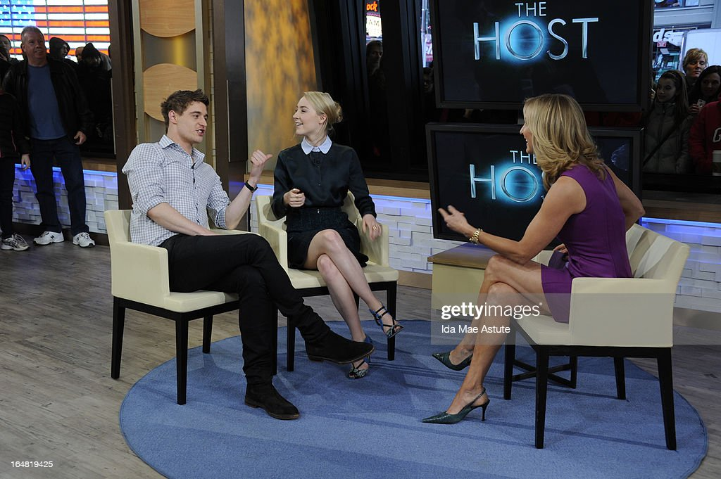 AMERICA - Max Irons and Saoirse Ronan visit GOOD MORNING AMERICA, 3/27/13, airing on the ABC Television Network. (Photo by Ida Mae Astute/ABC via Getty Images)MAX