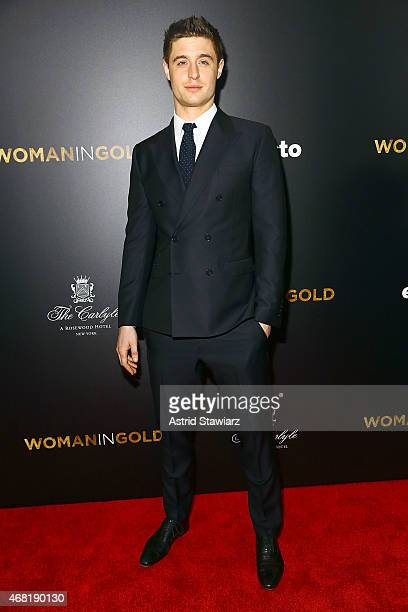 Max Irons attends 'Woman In Gold' New York Premiere at The Museum of Modern Art on March 30 2015 in New York City