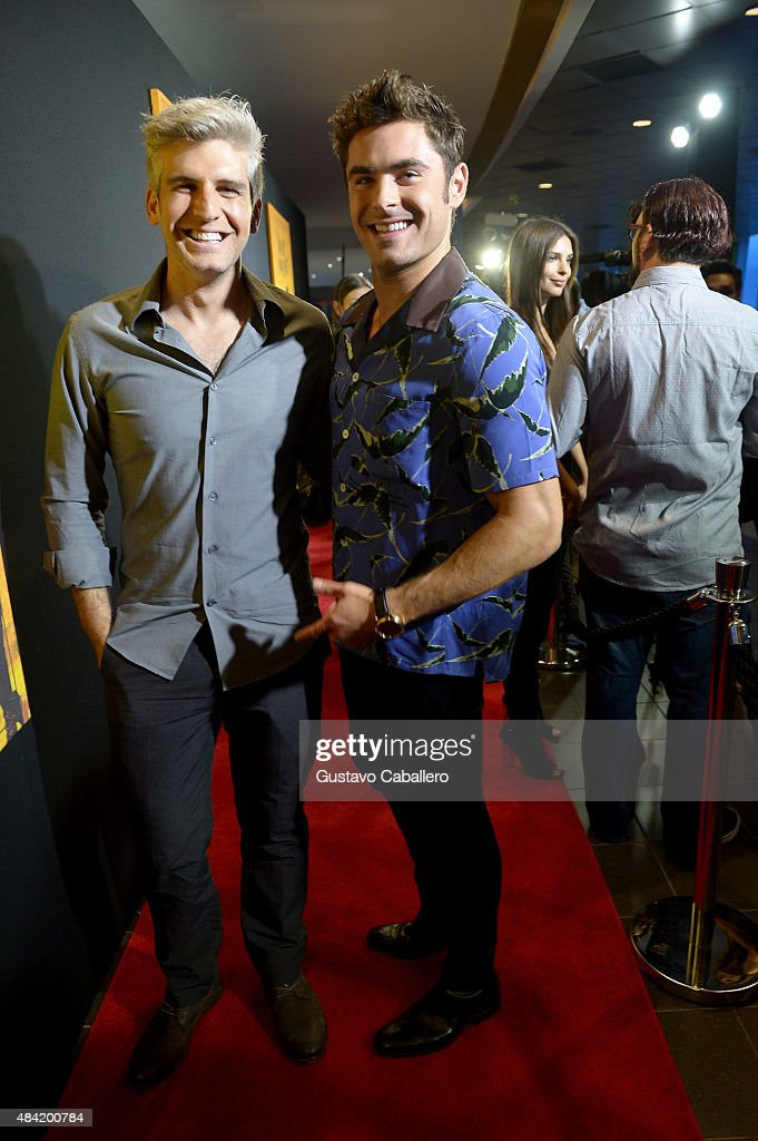 Max Joseph and Zac Efron attend 'We Are Your Friends' screeningat Regal Cinemas South Beach Stadium 18 on August 15, 2015 in Miami, Florida.