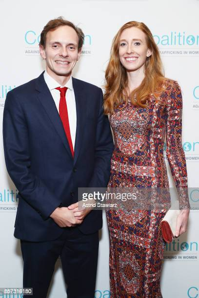 Max Kendrick and Ginger Whitesell attend the Coalition Against Trafficking In Women's 2017 Gala Game Change A Night of Celebration at Tribeca Rooftop...