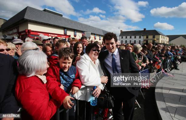 Max Kennedy Grandson of Bobby Kennedy meets local people in the port of New Ross in Co Wexford as part of a celebration to mark the 50th anniversary...