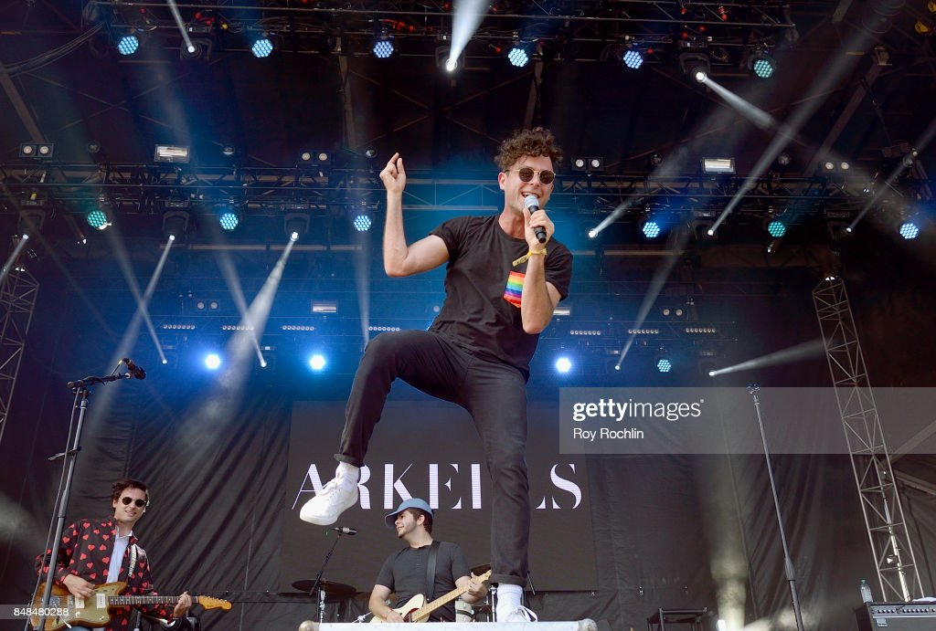 Max Kerman of Arkells performs onstage during the Meadows Music and Arts Festival - Day 3 at Citi Field on September 17, 2017 in New York City.