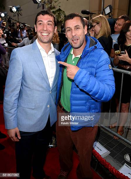 Max Kessler and comedian Adam Sandler attend the premiere of Netflix's 'The Do Over' at Regal LA Live Stadium 14 on May 16 2016 in Los Angeles...