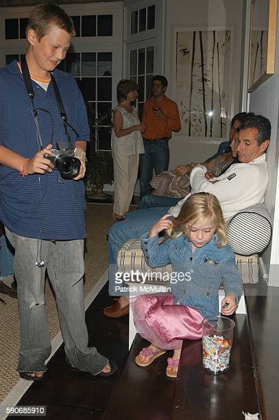 Max Kramer and Olivia Kramer attend HStern collection private preview at Alex Kramer residence Bridgehampton NY USA on July 8 2005