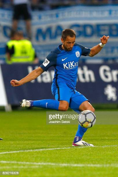 Max Kremer of Meppen during the 3 Liga match between SV Meppen and 1 FC Magdeburg at Haensch Arena on August 2 2017 in Meppen Germany