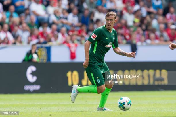 Max Kruse of Bremen controls the ball during the Telekom Cup 2017 match between Borussia Moenchengladbach and Werder Bremen at on July 15 2017 in...