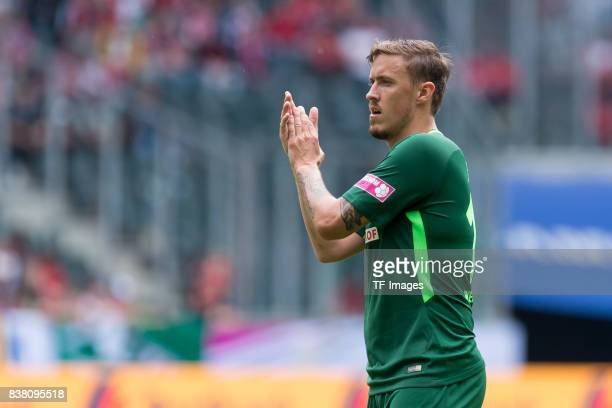 Max Kruse of Bremen gestures during the Telekom Cup 2017 match between Borussia Moenchengladbach and Werder Bremen at on July 15 2017 in...