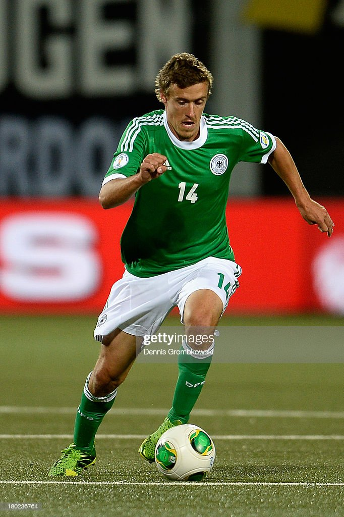 Max Kruse of Germany controls the ball during the FIFA 2014 World Cup Qualifier match between Faeroe Islands and Germany on September 10, 2013 in Torshavn, Denmark.