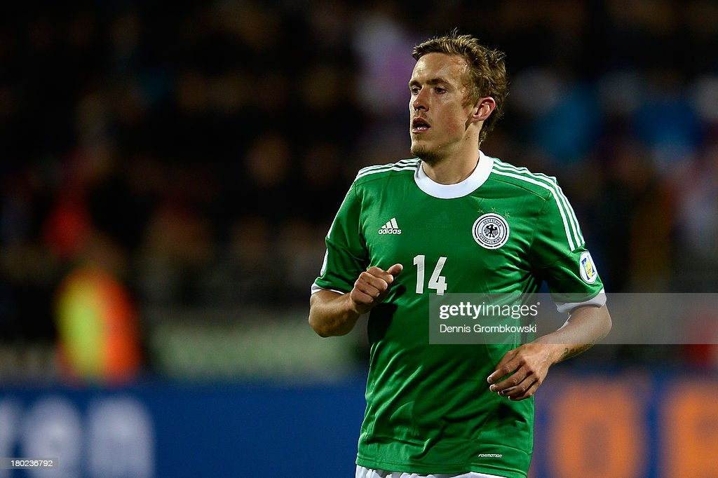 Max Kruse of Germany looks on during the FIFA 2014 World Cup Qualifier match between Faeroe Islands and Germany on September 10, 2013 in Torshavn, Denmark.