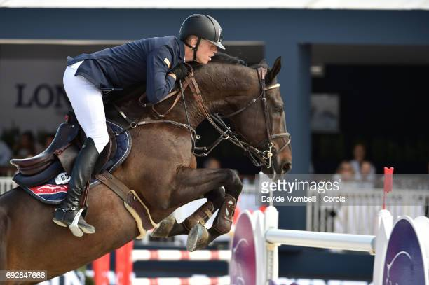 Max Kuehner of Austria riding Cornet Kalua during the Longines Grand Prix Athina Onassis Horse Show on June 3 2017 in St Tropez France
