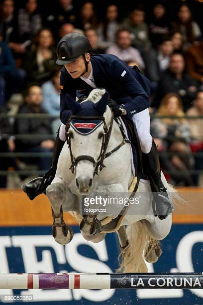 Max Kuhner attends during CSI Casas Novas Horse Jumping Competition on December 10 2017 in A Coruna Spain
