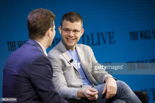 Max Levchin chairman and chief executive officer of Affirm Inc smiles during the Wall Street Journal DLive global technology conference in Laguna...