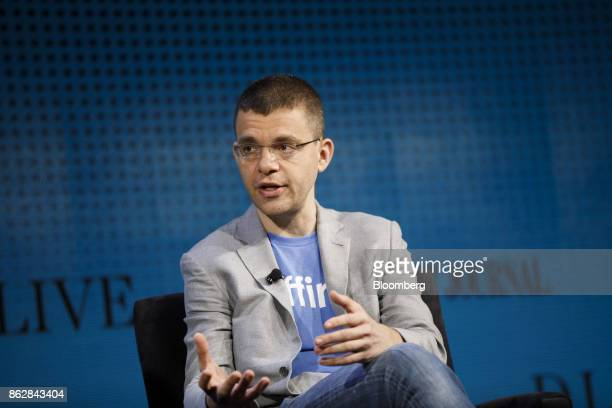 Max Levchin chairman and chief executive officer of Affirm Inc speaks during the Wall Street Journal DLive global technology conference in Laguna...