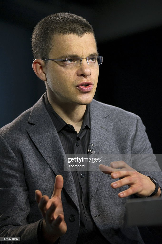 Max Levchin, chairman of Kaggle Inc., speaks during a Bloomberg West Television interview in San Francisco, California, U.S. on Tuesday, Aug. 13, 2013. Kaggle Inc. offers a platform for predictive modeling competitions where companies, governments, and researchers can present datasets and problems, as well as compete to produce the best solutions. Photographer: David Paul Morris