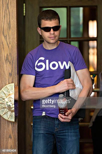 Max Levchin cofounder of PayPal Inc and founder of the fertility app Glow walks outside the Sun Valley Lodge ahead of the Allen Co Media and...