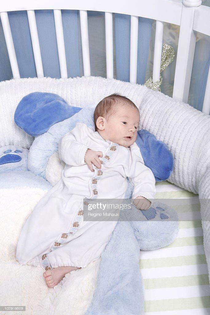 Max Liron Bratman, the son of Christina Aguilera and her husband Jordan Bratman, at home on February 9, 2008 in Los Angeles, California.