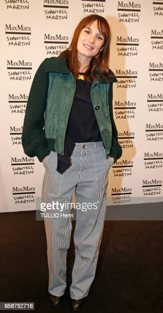 Max Mara cocktail at the parisian shop rue SaintHonore for their glasses collection Prism in Motion by Shantell Martin in Paris on March 02 2017 Ana...