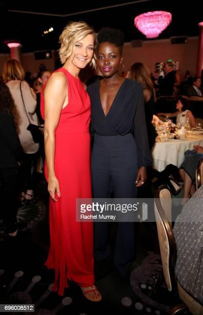 Max Mara Ownership and Brand Ambassador Nicola Maramotti and actress Lupita Nyong'o both wearing Max Mara attend the Women In Film 2017 Crystal Lucy...