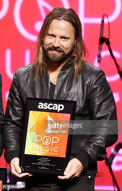 Max Martin onstage during the 32nd Annual ASCAP Pop Music Awards held at Lowes Hollywood Hotel on April 29 2015 in Hollywood California