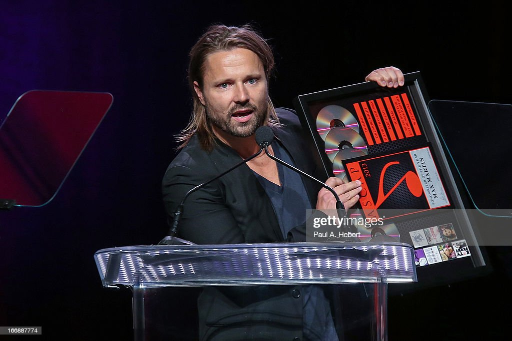 Max Martin receives an award on stage during the 30th Annual ASCAP Pop Music Awards at Loews Hollywood Hotel on April 17, 2013 in Hollywood, California.
