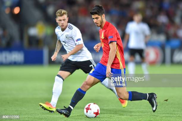 Max Meyer Marco Asensio during the UEFA European Under21 final match between Germany and Spain on June 30 2017 in Krakow Poland