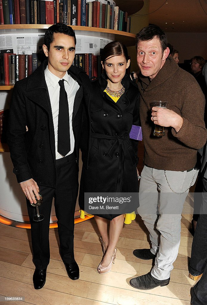 (L to R) Max Minghella, Kate Mara and Jason Flemyng attend an after party celebrating the Red Carpet Premiere of the Netflix original series 'House of Cards' at Asia de Cuba, St Martins Lane Hotel, on January 17, 2013 in London, England.