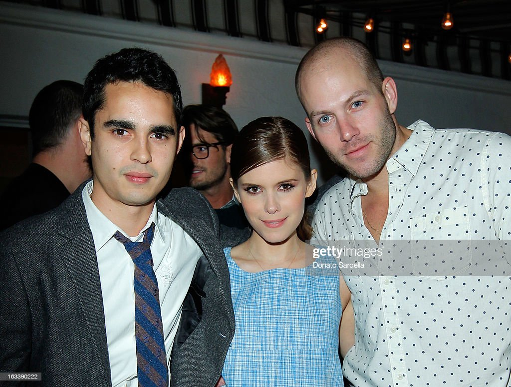 Max Minghella, Kate Mara and Johnny Wujek attend Joe Fresh private dinner hosted by Joe Mimran and Kate Mara at The Chateau Marmont on March 8, 2013 in Los Angeles, California.