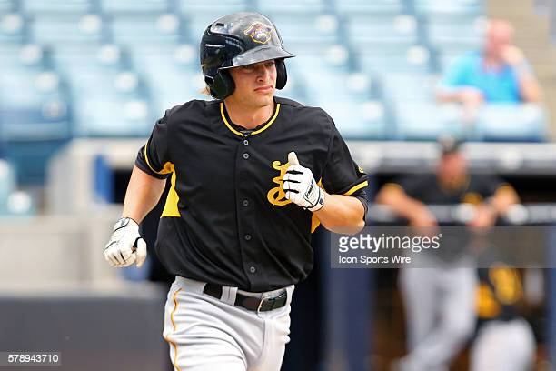 Max Moroff of the Marauders during the Florida State League game between the Bradenton Marauders and the Tampa Yankees at George M Steinbrenner Field...