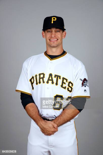 Max Moroff of the Pittsburgh Pirates poses during Photo Day on Sunday February 19 2017 at LECOM Park in Bradenton Florida