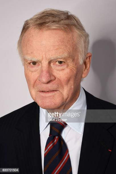 Max Mosley attends the Zoom F1 Charity auction on February 3 2017 in London United Kingdom