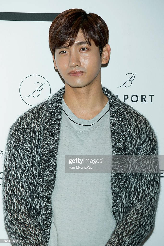 Max of South Korean boy band TVXQ attends the brand launching event for 'Belport' on September 30 2014 in Seoul South Korea