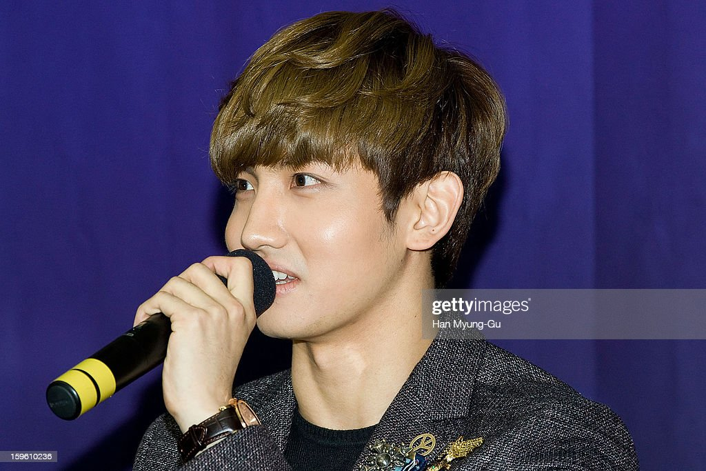 Max of South Korean boy band TVXQ (Tohoshinki) attends the KBS2 Talk Show 'Moonlight Prince' Press Conference at KBS on January 16, 2013 in Seoul, South Korea. Talk show will open on January 22 in South Korea.