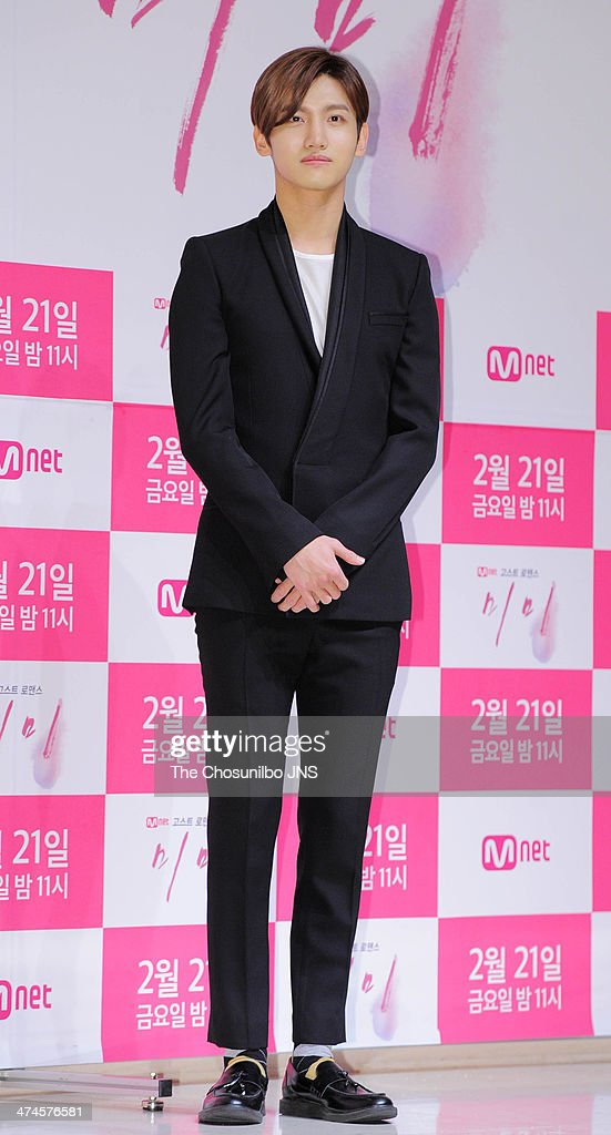 Max of TVXQ attends the Mnet drama 'Mimi' press conference at Patio9 on February 18 2014 in Seoul South Korea