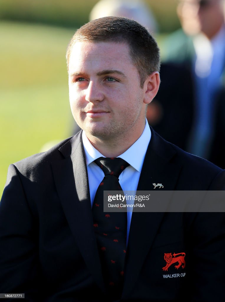 Max Orrin of England and the Great Britain and Ireland team at the opening ceremony as a preview for the 2013 Walker Cup Match at National Golf Links of America on September 6, 2013 in Southampton, New York.
