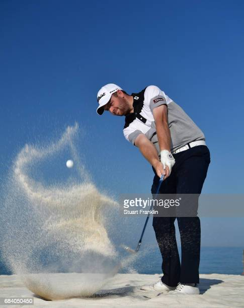 Max Orrin of England plays a shot during practice prior to the start of The Rocco Forte Open at Verdura Golf and Spa Resort on May 17 2017 in Sciacca...