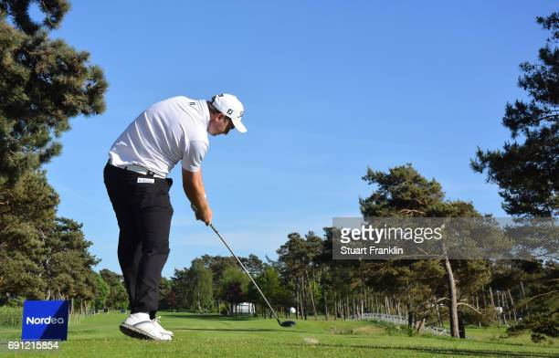 Max Orrin of England plays a shot during the first round of the Nordea Masters at Barseback Golf Country Club on June 1 2017 in Barsebackshamn Sweden