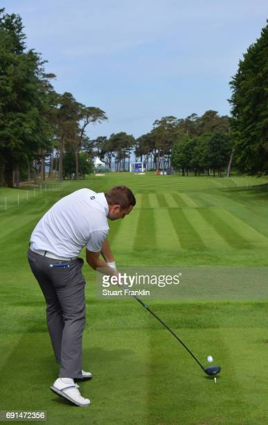 Max Orrin of England plays a shot during the second round of The Nordea Masters at Barseback Golf Country Club on June 2 2017 in Barsebackshamn Sweden