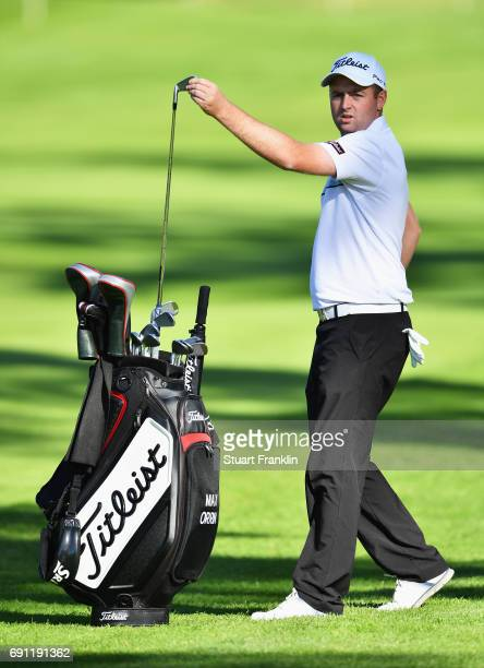 Max Orrin of England takes an iron from his bag during day one of the Nordea Masters at Barseback Golf Country Club on June 1 2017 in Barsebackshamn...