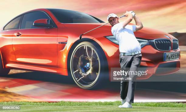 Max Orrin of England tees off on the 18th hole during the first round of the BMW International Open at Golfclub Munchen Eichenried on June 22 2017 in...