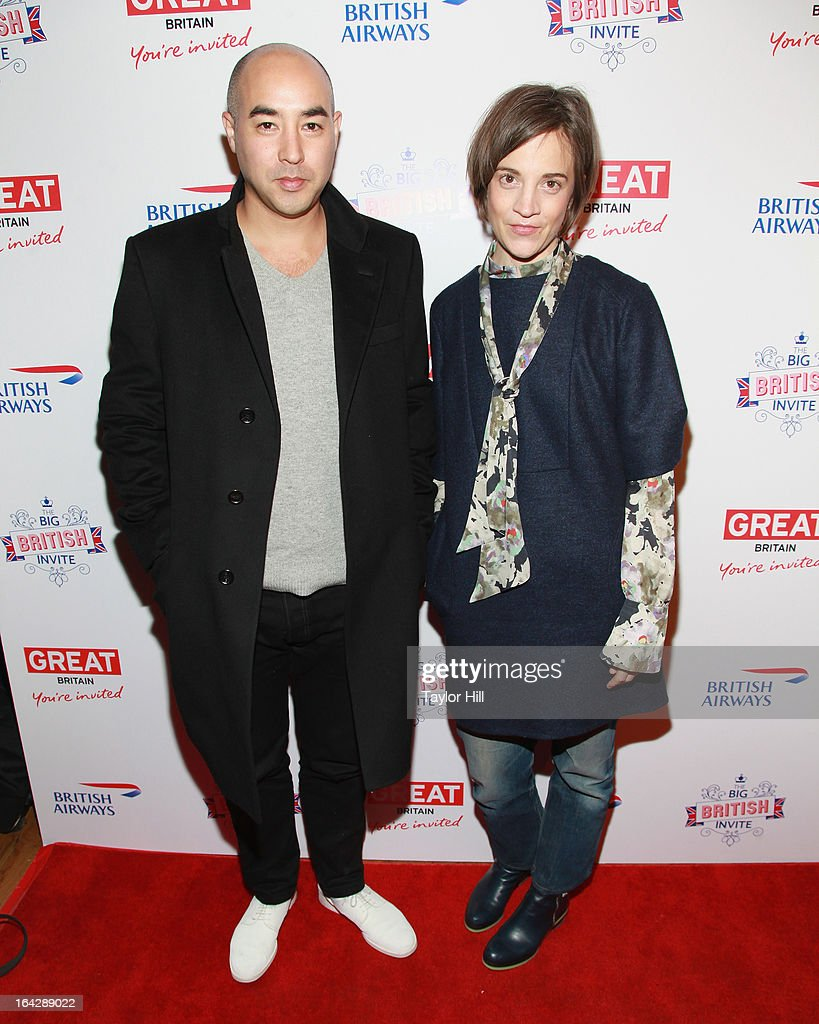 Max Osterweis and Erin Beatty attend The Big British Invite launch at 78 Mercer Street on March 21, 2013 in New York City.