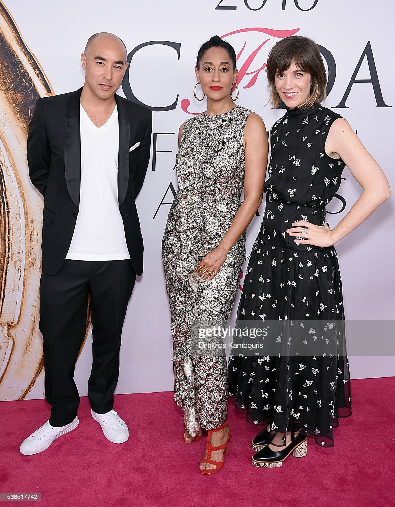 Max Osterweis Tracy Ellis Ross and guest attend the 2016 CFDA Fashion Awards at the Hammerstein Ballroom on June 6 2016 in New York City