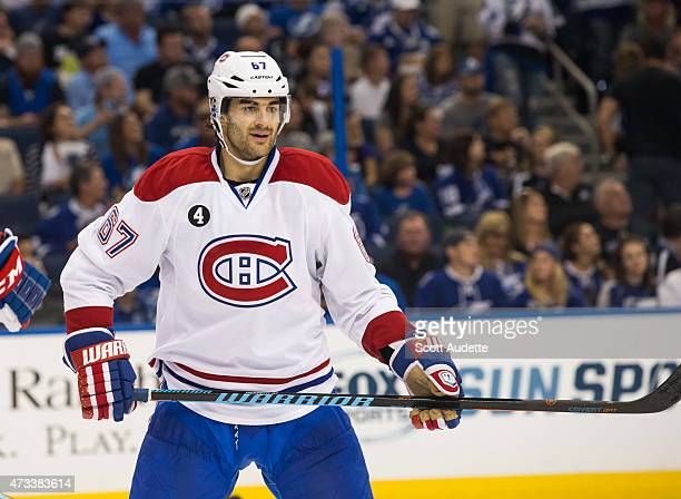 Max Pacioretty of the Montreal Canadiens against the Tampa Bay Lightning in Game Four of the Eastern Conference Semifinals during the 2015 NHL...