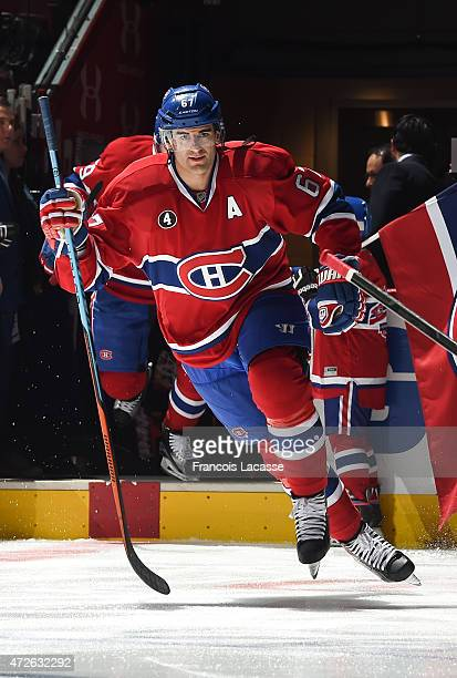 Max Pacioretty of the Montreal Canadiens before the NHL game against the Tampa Bay Lightning in Game Five of the Eastern Conference Semifinals during...