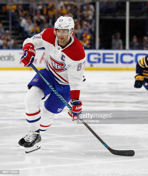 Max Pacioretty of the Montreal Canadiens during the game against the Buffalo Sabres at the KeyBank Center on October 5 2017 in Buffalo New York